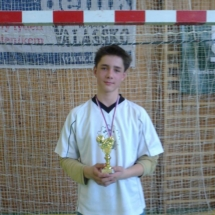 Filip Zubík nejlepší střelec (9 branek) turnaje Zašová 2012